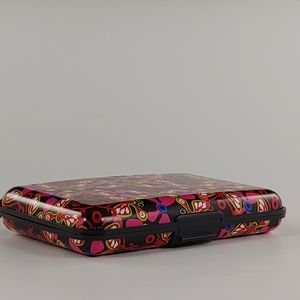 Aluminum Butterfly Wallet, Rfid - Red and black